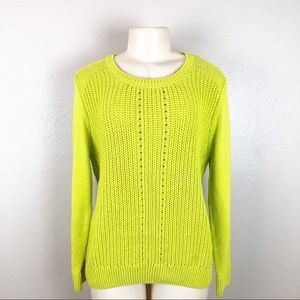 MARKS & SPENCER AUTOGRAPH LIME MIX SWEATER